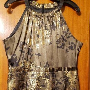 Tahari Black and Gold Dress